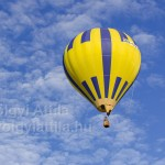 Colorful balloons fly high at Lake Velence