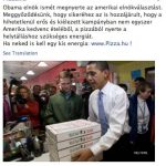 Obama won elections with the love of pizza?
