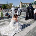 Very special wedding photos with Lord Vader