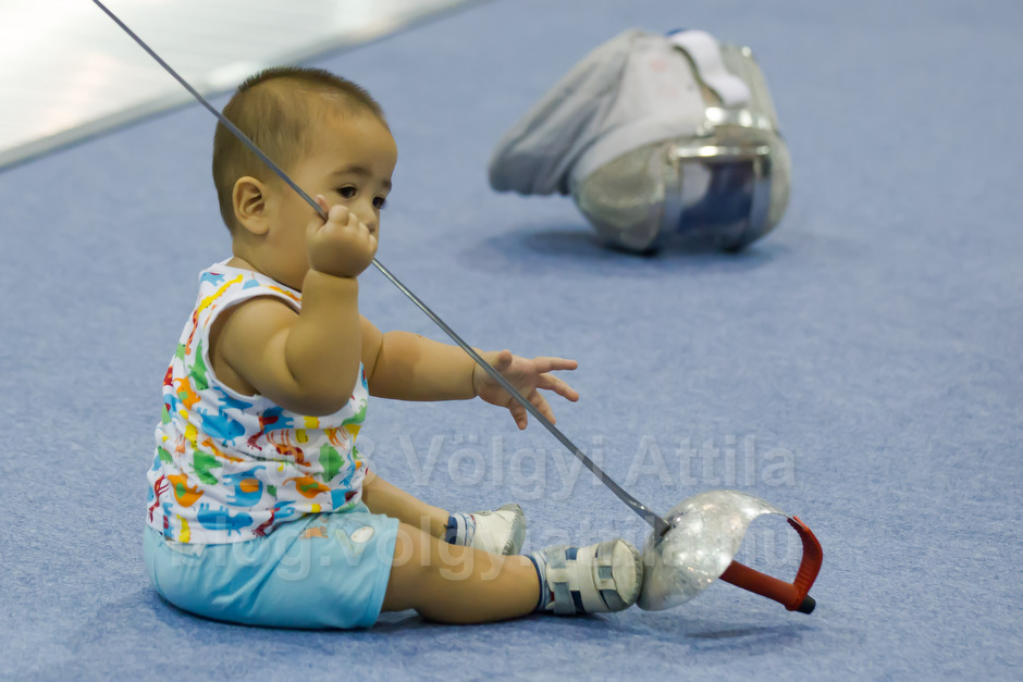 Never too young for a spot of fencing