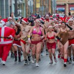 Half naked santas run in freezing cold too
