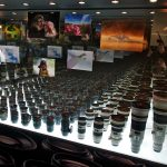 Canon lenses on the table at CP+ expo