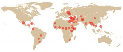 Main danger zones of the worldSource: CPJ