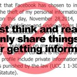 Facebook copyright misinformation hoax