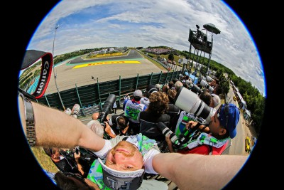 Photographers wait for the start on HungaroringPhoto by Robert Hegedus/Magyar Hírlap