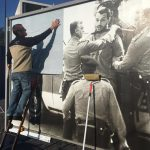 Photo covered on the billboard exhibition