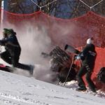 Olympic skier crashed among photographers