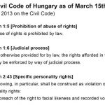 Hungary's law on photography
